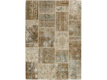 Patchwork Teppich Orientteppich 197x139 cm Handgeknüpft Modern