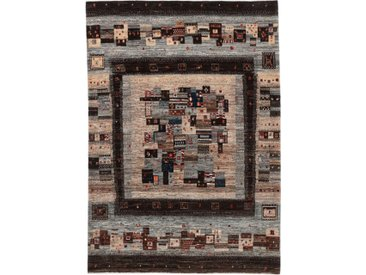 Gabbeh Loribaft Nowbaft Teppich Orientteppich 243x171 cm Handgeknüpft Modern