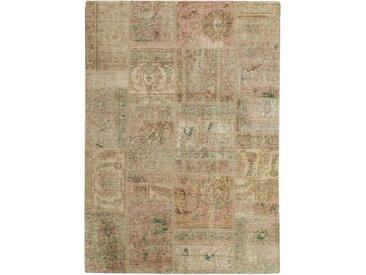 Patchwork Teppich Perserteppich 201x143 cm Handgeknüpft Modern