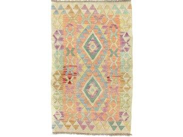 Kelim Afghan Heritage Teppich Orientalischer Teppich 95x58 cm Handgewebt Design Modern