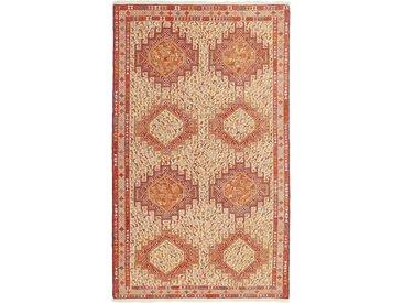 Kelim Soumak Shahsavan Teppich Persischer Teppich 198x116 cm Handgewebt Klassisch