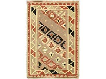 Kelim Fars Teppich Orientteppich 151x99 cm Handgewebt Klassisch