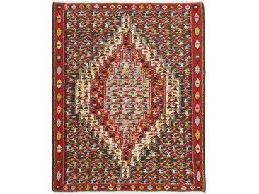 Kelim Senneh Teppich Perserteppich 149x116 cm Handgewebt Klassisch
