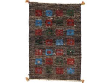 Perser Gabbeh Loribaft Teppich Perserteppich 121x83 cm Handgeknüpft Modern