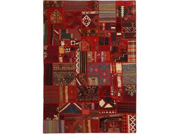 Kelim Patchwork Teppich Persischer Teppich 229x159 cm Handgewebt Klassisch