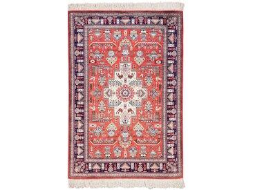 Ghom Seide Teppich Orientteppich 117x82 cm Handgeknüpft Klassisch