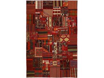 Kelim Patchwork Teppich Perserteppich 300x200 cm Handgewebt Klassisch