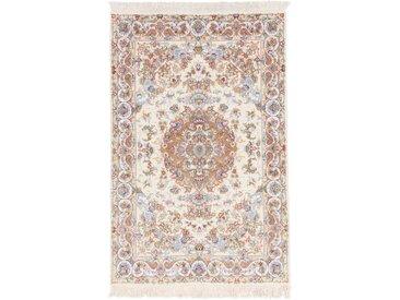 Täbriz 60Raj Seidenkette Teppich Persischer Teppich 154x104 cm Handgeknüpft Klassisch