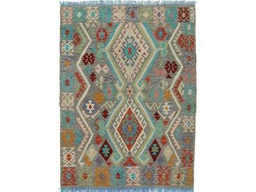 Kelim Afghan Heritage Teppich Orientteppich 209x155 cm Handgewebt Design Modern