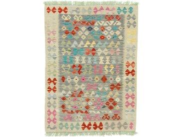 Kelim Afghan Heritage Teppich Orientalischer Teppich 139x100 cm Handgewebt Design Modern