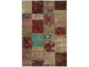 Patchwork Teppich Orientalischer Teppich 238x166 cm Handgeknüpft Modern