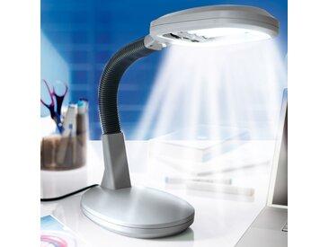 LED-Tageslicht Schreibtischleuchte, silberoptik