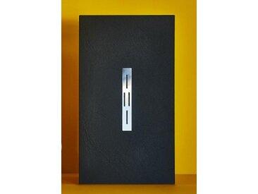 ARDESIA Mineralguss Duschwanne mit Rinne 100 x 90 x 3 cm