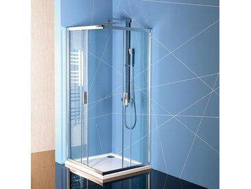 EASY LINE Duschabtrennung Quadrat 800x800mm, klarglas