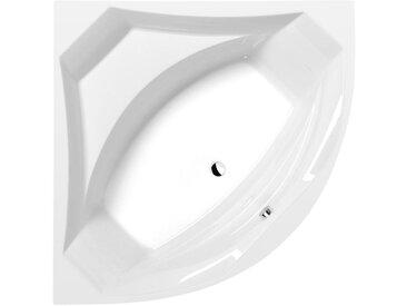 LINCOLN Eckwanne mit Füßen 150x150x49cm, weiß