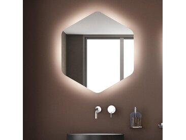 Spiegel-sechseck mit LED-Raumbeleuchtung