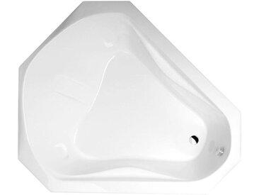 CESHIRE Eckbadewanne mit Füßen 163x139x51cm, weiß