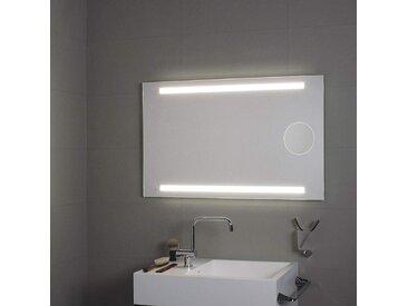 Spiegel mit LED-Beleuchtung und Vergrößerungsspiegel