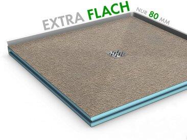 EXTRA FLACH befliesbares Duschboard 80 x 80 Ablauf Miitig