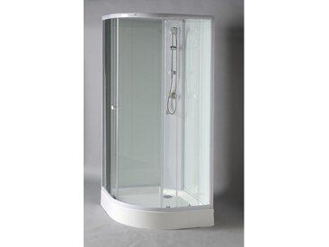 Viertelkreis Duschbox 900x900x2060 mm Profil weiß