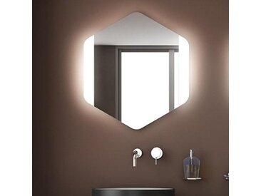 Spiegel-sechseck mit seitlicher LED-Beleuchtung
