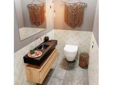 waschtisch set gäste wc ANDOR 100 cm eiche FK75343728