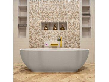 badewanne mineralwerkstoff serie rock 170 cm außen leinen...