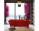 badewanne mineralwerkstoff serie lundy 170 cm rot matt 2010...