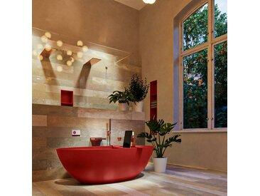 badewanne mineralwerkstoff serie float 170 cm rot matt 190 liter