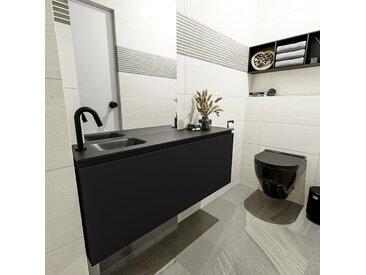 waschtisch set gäste wc OLAN 120 cm schwarz FK75342807