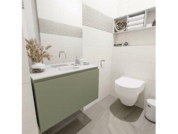 waschtisch set gäste wc OLAN 80 cm army grün FK75342533