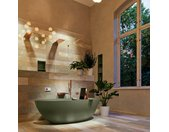 badewanne mineralwerkstoff serie float 170 cm army grün matt...