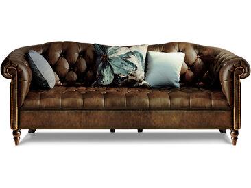 CHESTERFIELD Echtleder 3-Sitzer Sofa LONDON, antikbraun