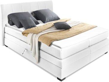 DABBY Boxspringbett mit Bettkasten, Bezug Kunstleder, 180 x...