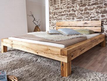 LIAS Massivholzbett Wildeiche geölt, 200 x 200 cm
