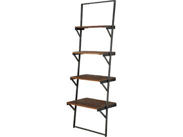 TAIJA Wandregal Treppe, Material Massivholz / Metall
