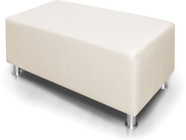 KUBO Sitzwürfel 140 cm, Material Kunstleder, weiss