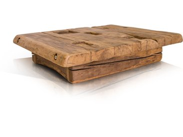 WIKINGER Couchtisch 90x90 cm Höhe: 22 cm, Material Massivholz