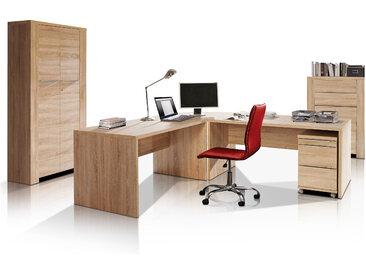 CAMILLO I Komplett-Büro, Material Dekorspanplatte, Eiche...