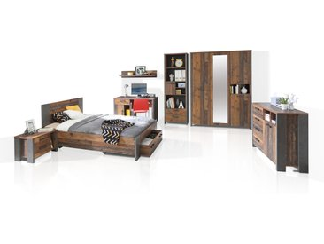 CASSIA Jugendzimmer 7-tlg., Material Dekorspanplatte, Old Wood...