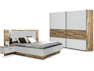 MEDUNA Komplett-Schlafzimmer, Material Dekorspanplatte,...