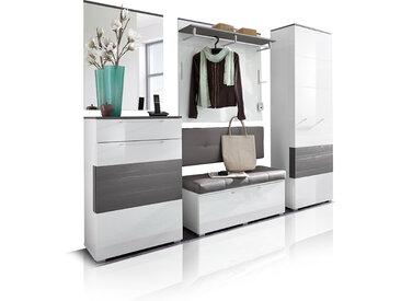RENE Garderoben Kombination, Material Dekorspanplatte, weiss...