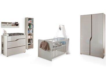 MONOLITO Komplett-Babyzimmer, Material MDF, weiss Hochglanz  /...