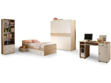 TINA Jugendzimmer, Material Dekorspanplatte, Eiche...