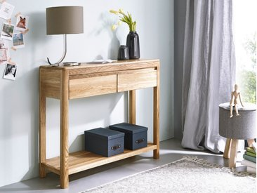 VERONA Konsolentisch, Material Massivholz, Wildeiche geölt