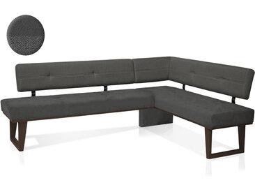 COLMI Eckbank, Material Massivholz / Bezug Stoff, Buche schwarz