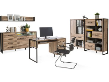 HANIKA Komplett Büro II, Material Dekorspanplatte, eichefarbig...