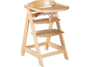 Treppenhochstuhl 'Sit Up Click & Fun', Essbrett und Bügel, Klickverschluss, mitwachsend, natur