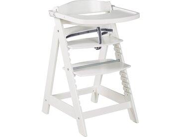 Treppenhochstuhl 'Sit Up Click & Fun', Essbrett und Bügel, Klickverschluss, mitwachsend, weiß