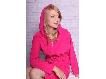 Damen Badejacke / Bademantel Floringo pink-M